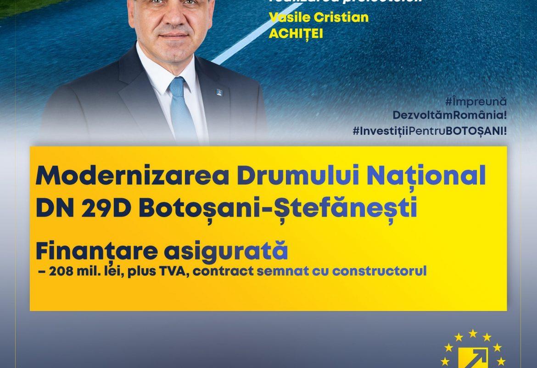 Încep lucrările de modernizare a Drumului Național DN 29D Botoșani-Ștefănești!