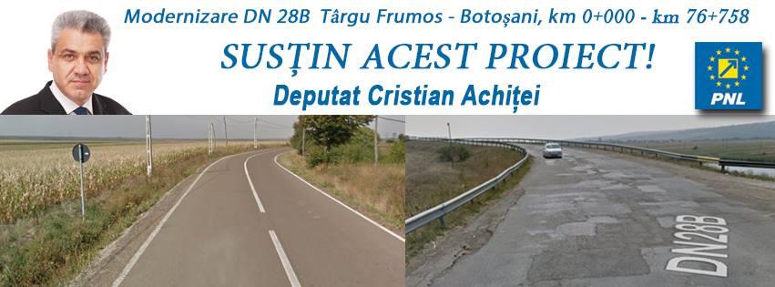 """Modernizarea Drumului Național DN28B Tg. Frumos-Botoșani este o """"investiție în continuare"""""""